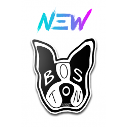 Boston Gaming Terrier Sticker